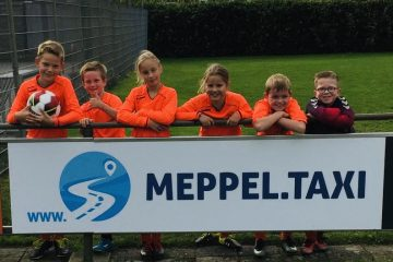 bord sponsoring Meppel Taxi